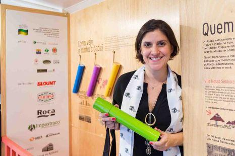 Lucia Casillo Malucelli - idealizadora do projeto Onibus Museu