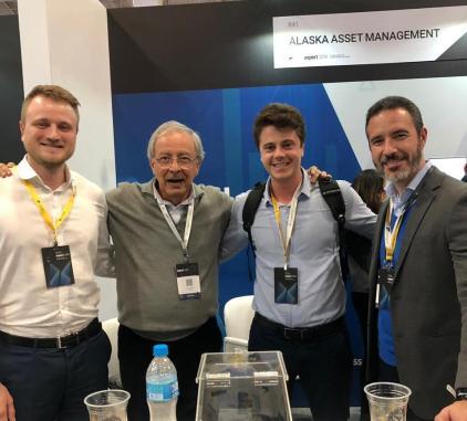 Arthur Weber, sócio da Allez Invest, Luiz Alves, sócio da Alaska Asset, Rodolgo Baggio, sócio da Allez Invest, e Henrique Bredda, gestor da Alaska Asset