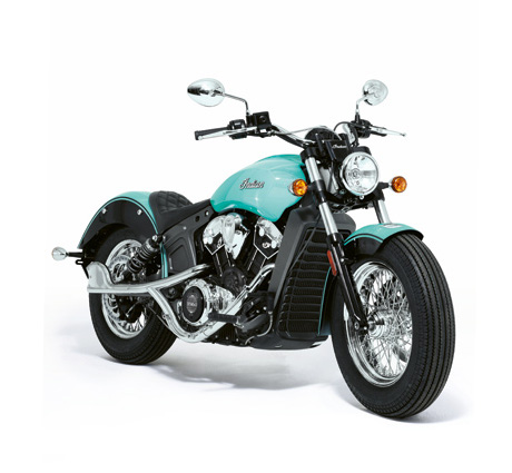 Tiffany Blue® Indian Scout motorcycle
