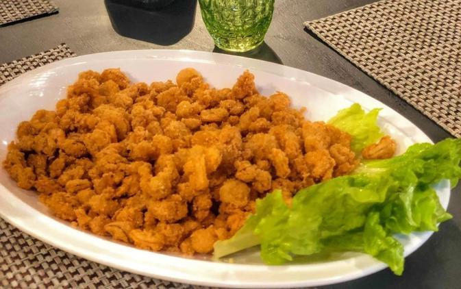 Camarao Frito - Restaurante Passauna Paddle Clube