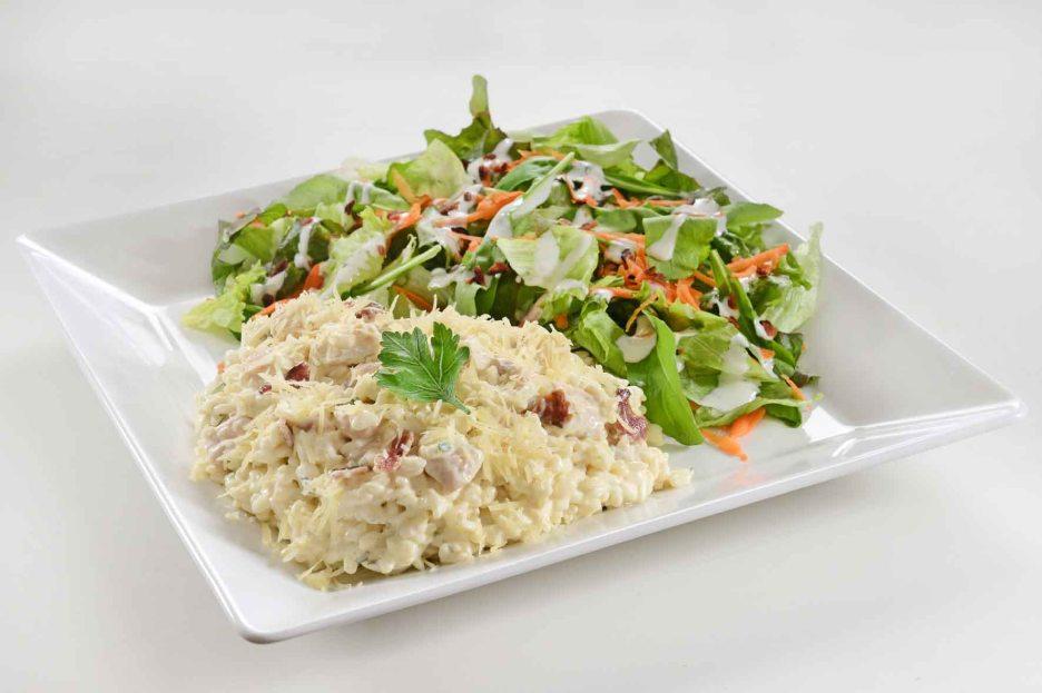 Risoto de Frango com Salada - Au-Au