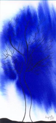 Florestas para meu amor 5, aquarela e nanquim sobre papel, 33 x 12 cm, 2014, Luiz Arthur Montes Ribeiro, Preço final R$ 434,90