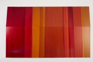 Tatiana Stropp 27.02, 2017. Óleo s alumínio, 124x200cm