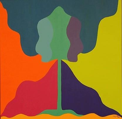 Transição 2, Acrílica sobre tela, 50 x 50 cm, 2018 Luiz Arthur Montes Ribeiro, Preço final 1.129,00