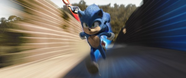 Sonic (Ben Schwartz) in SONIC THE HEDGEHOG from Paramount Pictures and Sega. Photo Credit: Courtesy Paramount Pictures and Sega of America.